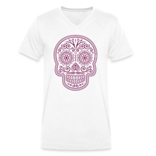 Totenkopf - Männer Bio-T-Shirt mit V-Ausschnitt von Stanley & Stella