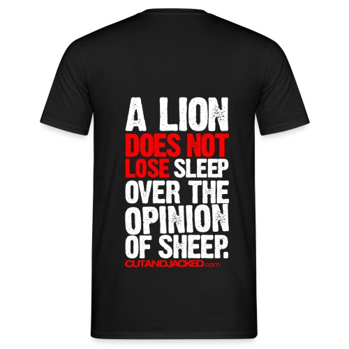 A lion does not lose |  Mens Tee (back print) - Men's T-Shirt