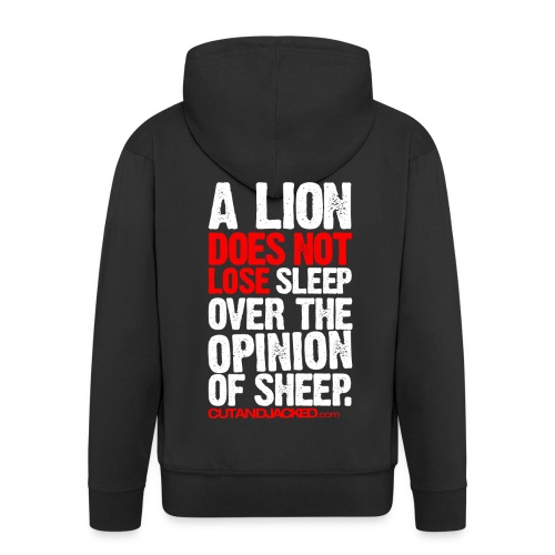 A lion does not lose |  Mens zipper hoodie - Men's Premium Hooded Jacket