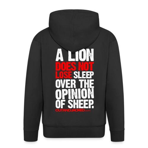 A lion does not lose |  Mens zipper hoodie - Men's Premium Hooded Jacket