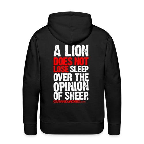 A lion does not lose |  Mens hoodie - Men's Premium Hoodie
