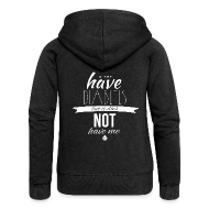 Hoodies & Sweatshirts ~ Women's Premium Hooded Jacket ~ Just saying