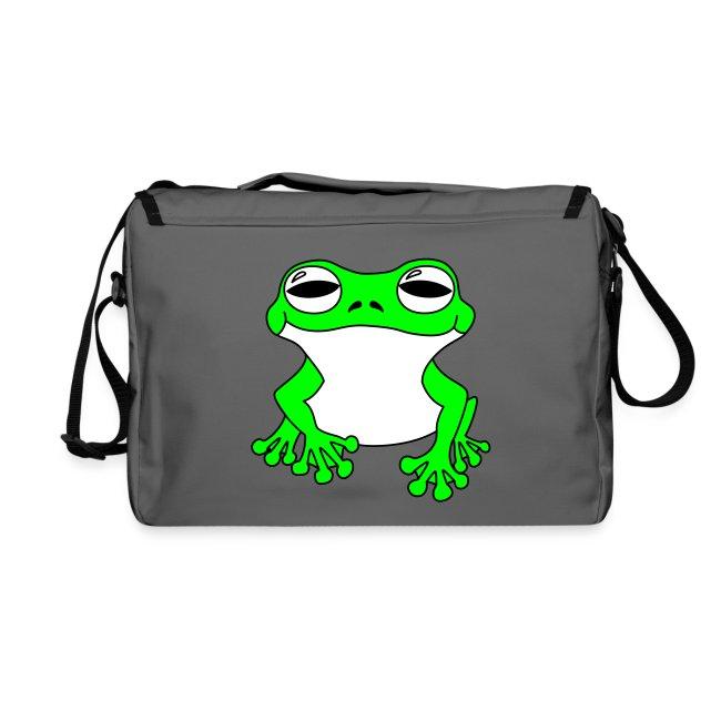 Frosch Tasche. Rückseite bedruckt.
