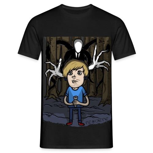 Pewdie VS Slender man Color - Men's T-Shirt