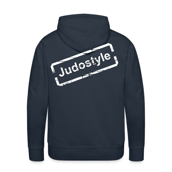 Sweat tampon blanc judostyle homme dos