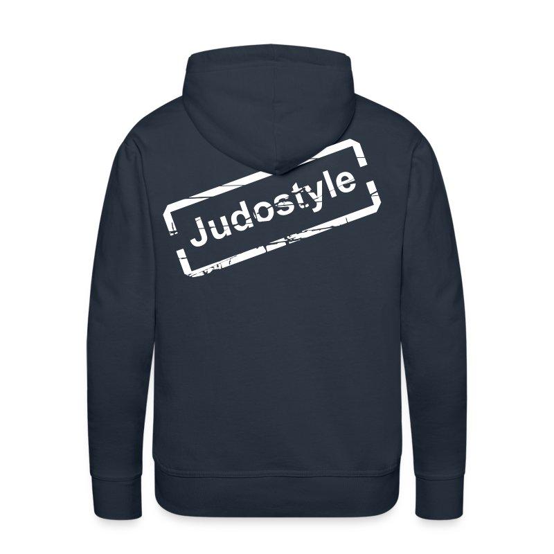 Sweat tampon blanc judostyle homme dos - Sweat-shirt à capuche Premium pour hommes