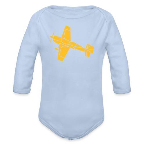 Flugzeug Jet Airplane Sky Himmel Sun Sonne Sport - Baby Bio-Langarm-Body