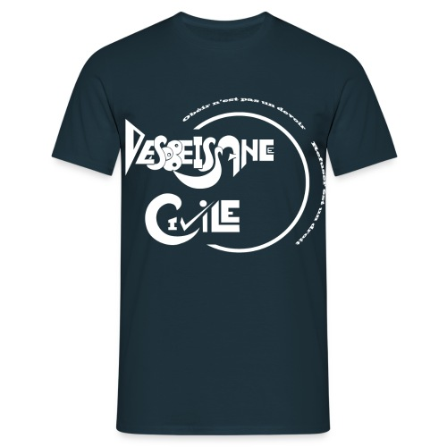 Désobéissance Civile blanc - T-shirt Homme