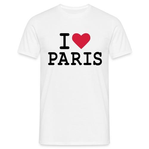 162d8acb94586 T-Shirt I Love Paris Homme B&C - T-shirt Homme