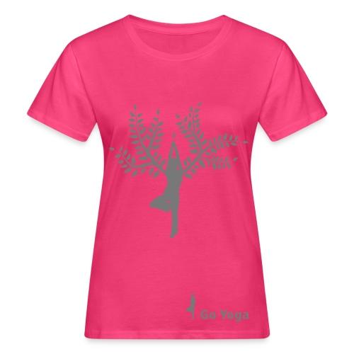 Go Yoga Tree by Anna Werr auf bio-Baumwolle - Frauen Bio-T-Shirt