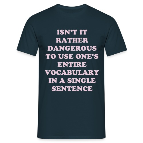 Limited Vocabulary - Men's T-Shirt