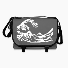 Hokusai vague pixel art blanc Sacs