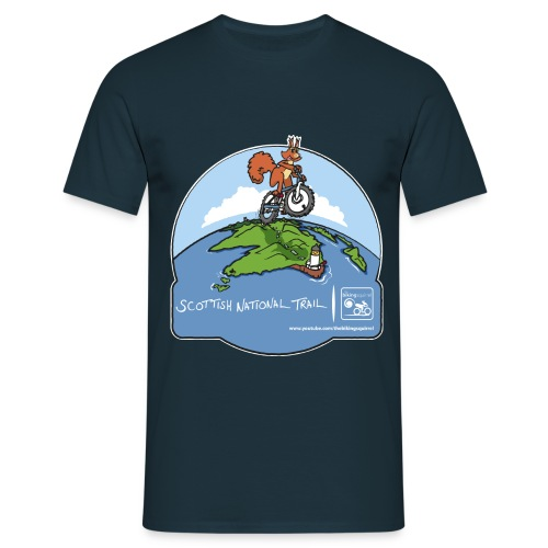 The Biking Squirrel - Scottish National Trail - Men's T-Shirt