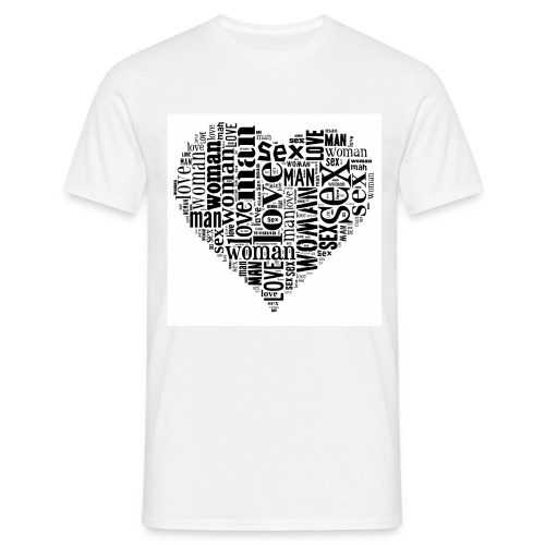T-shirt Uomo Sex&Love - Maglietta da uomo
