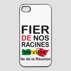 Coque iPhone 5 Fier de nos racine 974 - Réunion - Coque rigide iPhone 4/4s