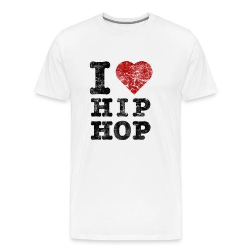 I Love Hip-Hop - Mannen Premium T-shirt