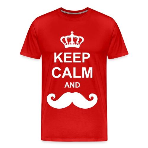 Keep Calm And Moustache - Mannen Premium T-shirt