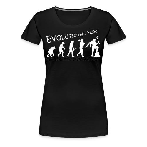 Evolution of a Hero - Girls - Frauen Premium T-Shirt
