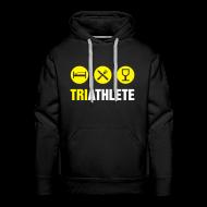 Hoodies & Sweatshirts ~ Men's Premium Hoodie ~ Triathlete-Logo/Name/Ironman in Trg