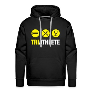 Triathlete-Logo/Name/Ironman in Trg - Men's Premium Hoodie