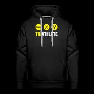 Hoodies & Sweatshirts ~ Men's Premium Hoodie ~ Triathlete-Logo/Ironman in Trg
