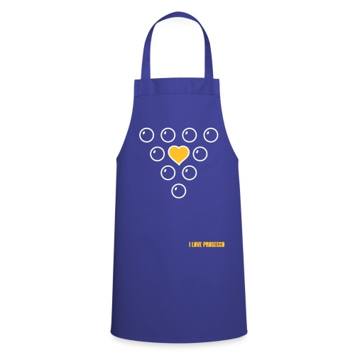 I Love Prosecco - Cooking Apron Heart in Grapes - Cooking Apron