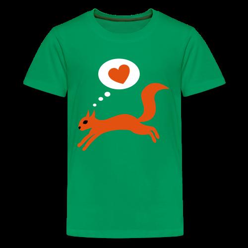 teenager, t-shirt, eichhoernchen - Teenager Premium T-Shirt