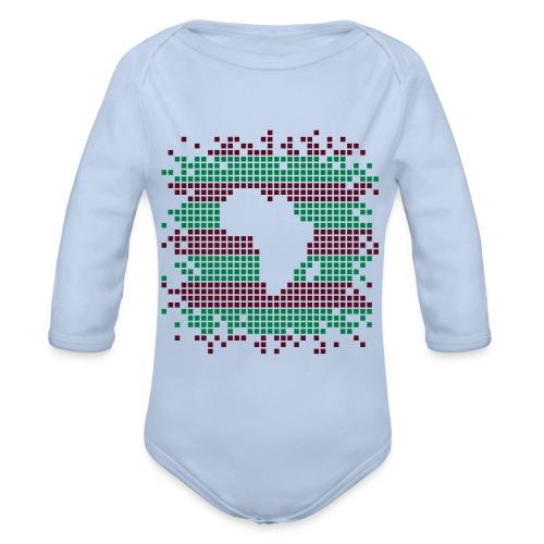 Africa in dots Baby - Organic Longsleeve Baby Bodysuit