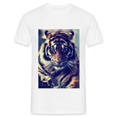 HUGE Shirt: Tiger - White - For Men - Mannen T-shirt