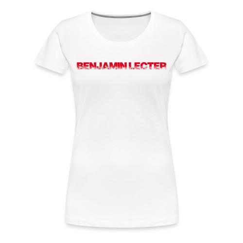 Schriftzug front und Logo back - Frauen Premium T-Shirt