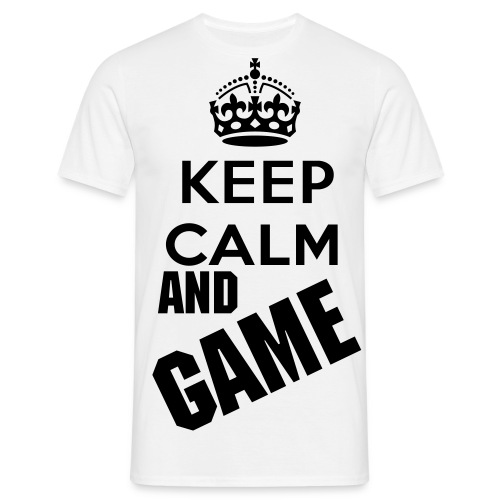 Keep Calm And Game - Mannen T-shirt