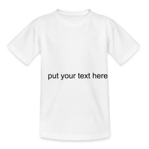 Design you own kids top - Teenage T-shirt