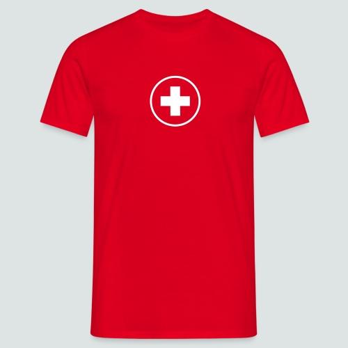 Round Swiss Cross  T-Shirt Herren - Männer T-Shirt