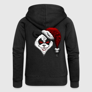 Evil Christmas Panda Hoodies & Sweatshirts - Women's Premium Hooded Jacket