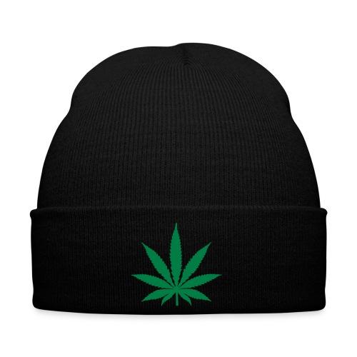 Wintermütze - Mütze mit Marihuana-Blatt :D
