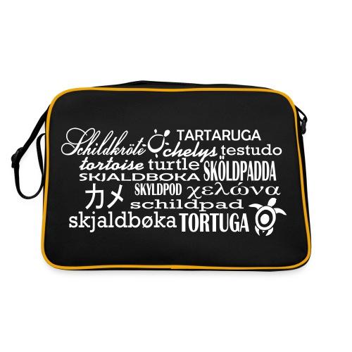 TAsche - Schildkröte in Sprache - Retro Tasche