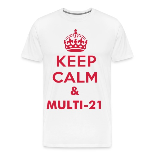Multi-21 Red on white - Men's Premium T-Shirt