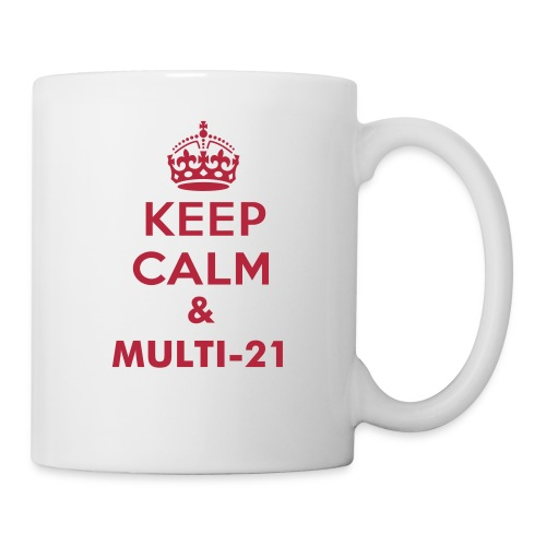 Multi-21 mug Red on white - Mug