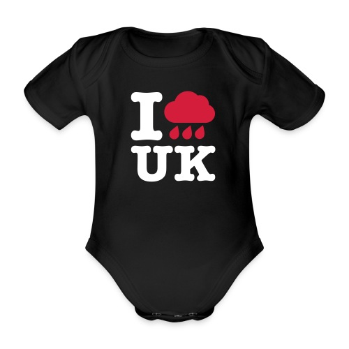 I @#$% Baby One-piece Black - Organic Short-sleeved Baby Bodysuit