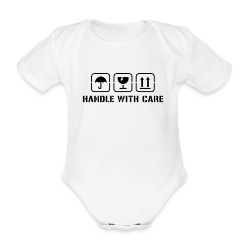 Handle with care Baby One-pice - Organic Short-sleeved Baby Bodysuit
