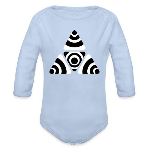 Zebra Triangle - Baby Bio-Langarm-Body