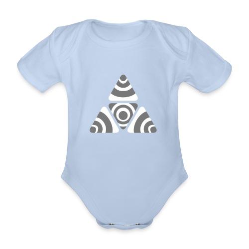 Zebra Triangle - Baby Bio-Kurzarm-Body