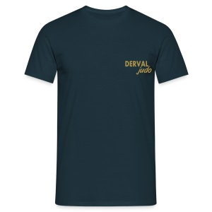 Tee-shirt homme Derval judo logo or - T-shirt Homme