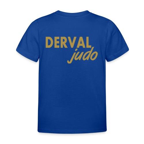 Tee-shirt enfant Derval judo logo or - T-shirt Enfant