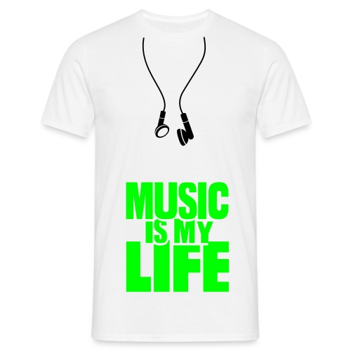Music is my Life  ♪ ♫ ♥  - Männer T-Shirt