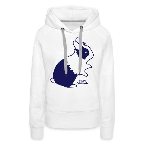 Kapuzenpulli weiß mit Kaninchen - Frauen Premium Hoodie