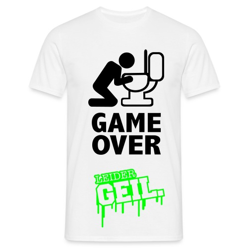 Game Over ♪ ♫ ♥  - Männer T-Shirt