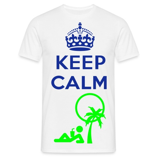 Keep Calm and Relax - Männer T-Shirt