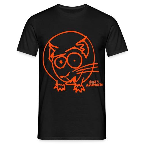 Basisshirt schwarz mit Mad George - Männer T-Shirt
