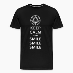 Keep calm and happy smile sunny spring summer sun T-Shirts